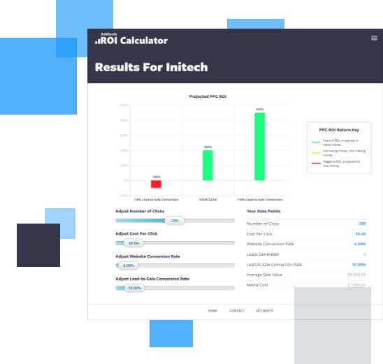 an image of our product the Google Ad ROI calculator