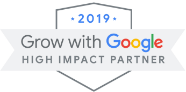 The Grow with Google High Impact Partner logo for 2019