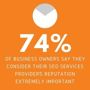 business owners consider seo service provider reputation important