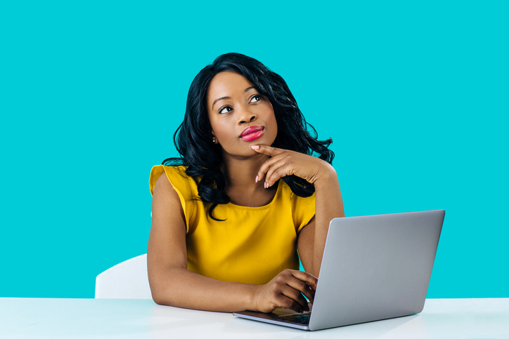 Woman thinking of questions - Digital Marketing Agency