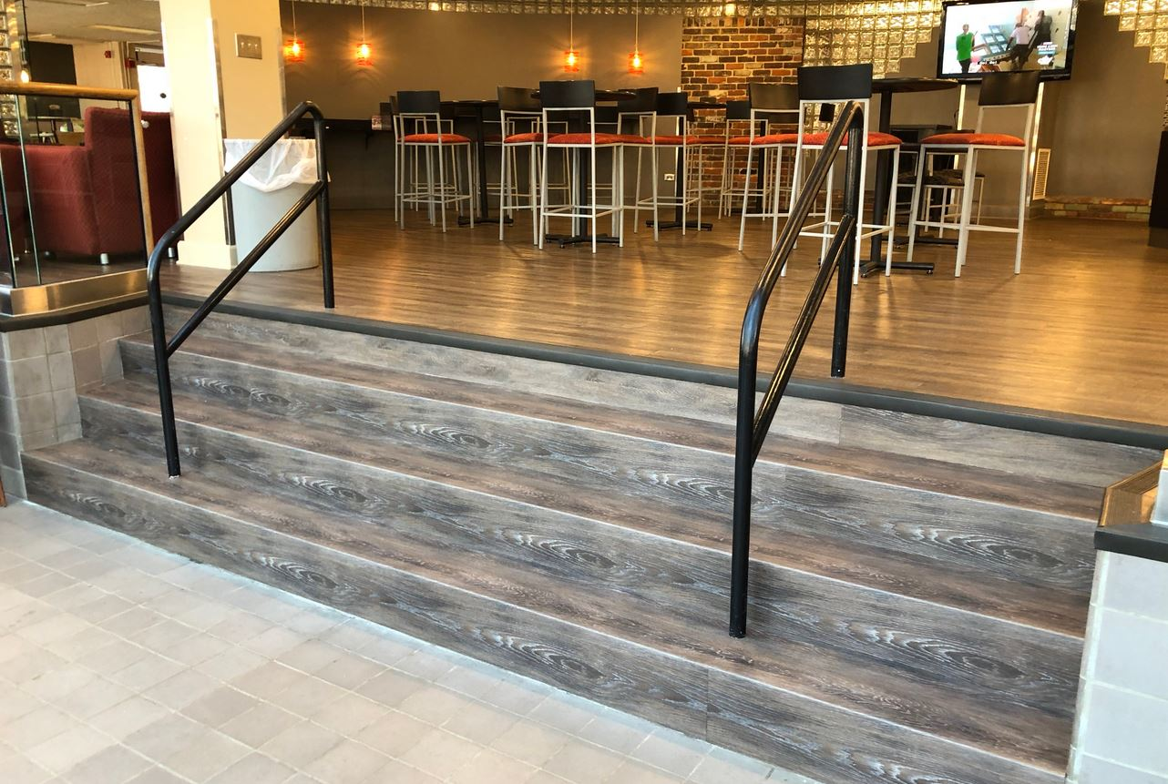 Image of restaurant stair case