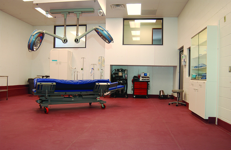 Red Protect-All medical flooring