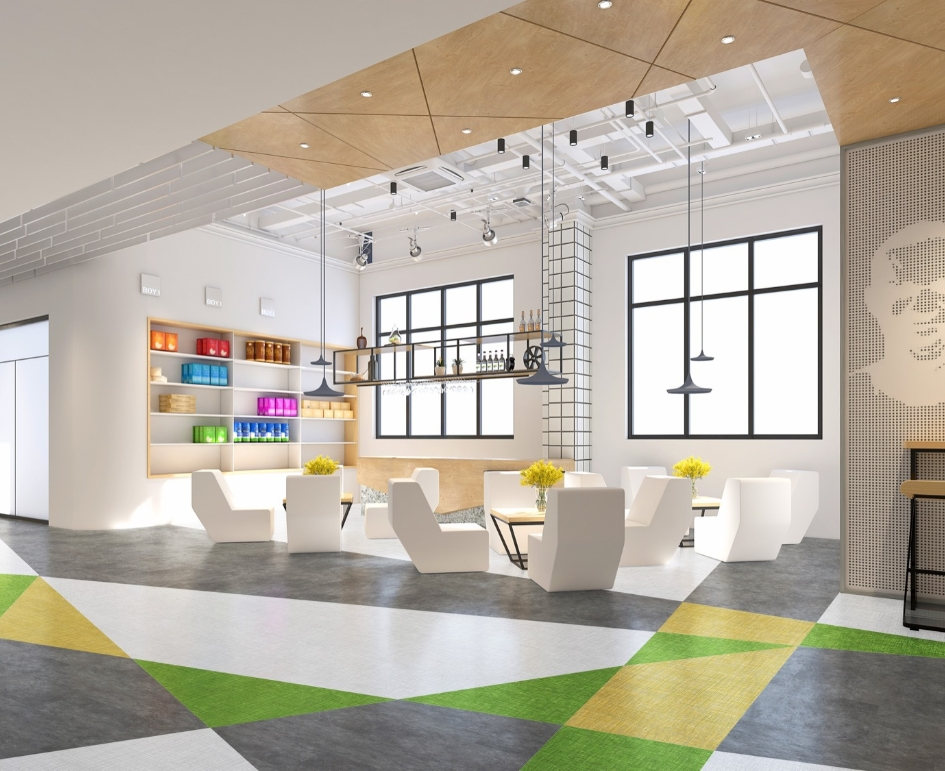 Six Degrees Compass Colors Modern Office