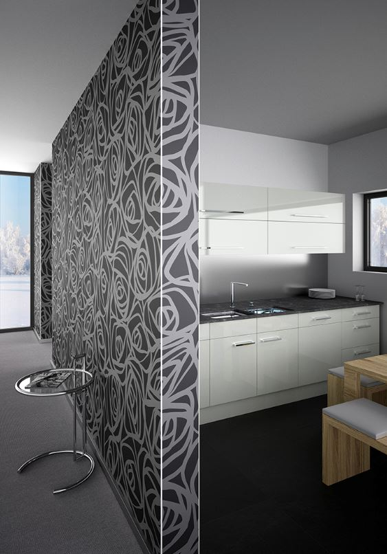 Image of kitchen wall corners featuring