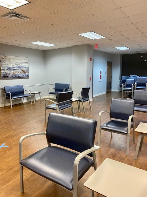 Waiting room of a healthcare facility