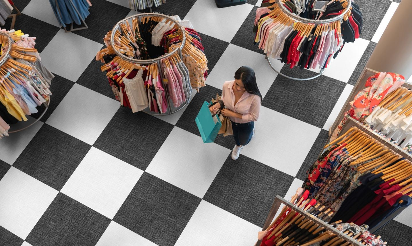 Image of clothing store floor