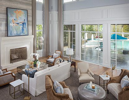 Marc-Michaels Model Home Design Golden Oak Living Room