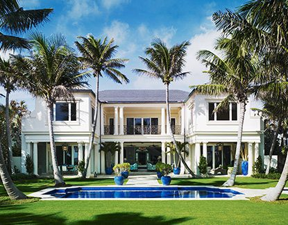 Palm Beach Traditional Design Home with Pool