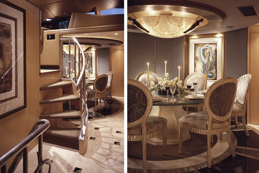 yacht design dining room