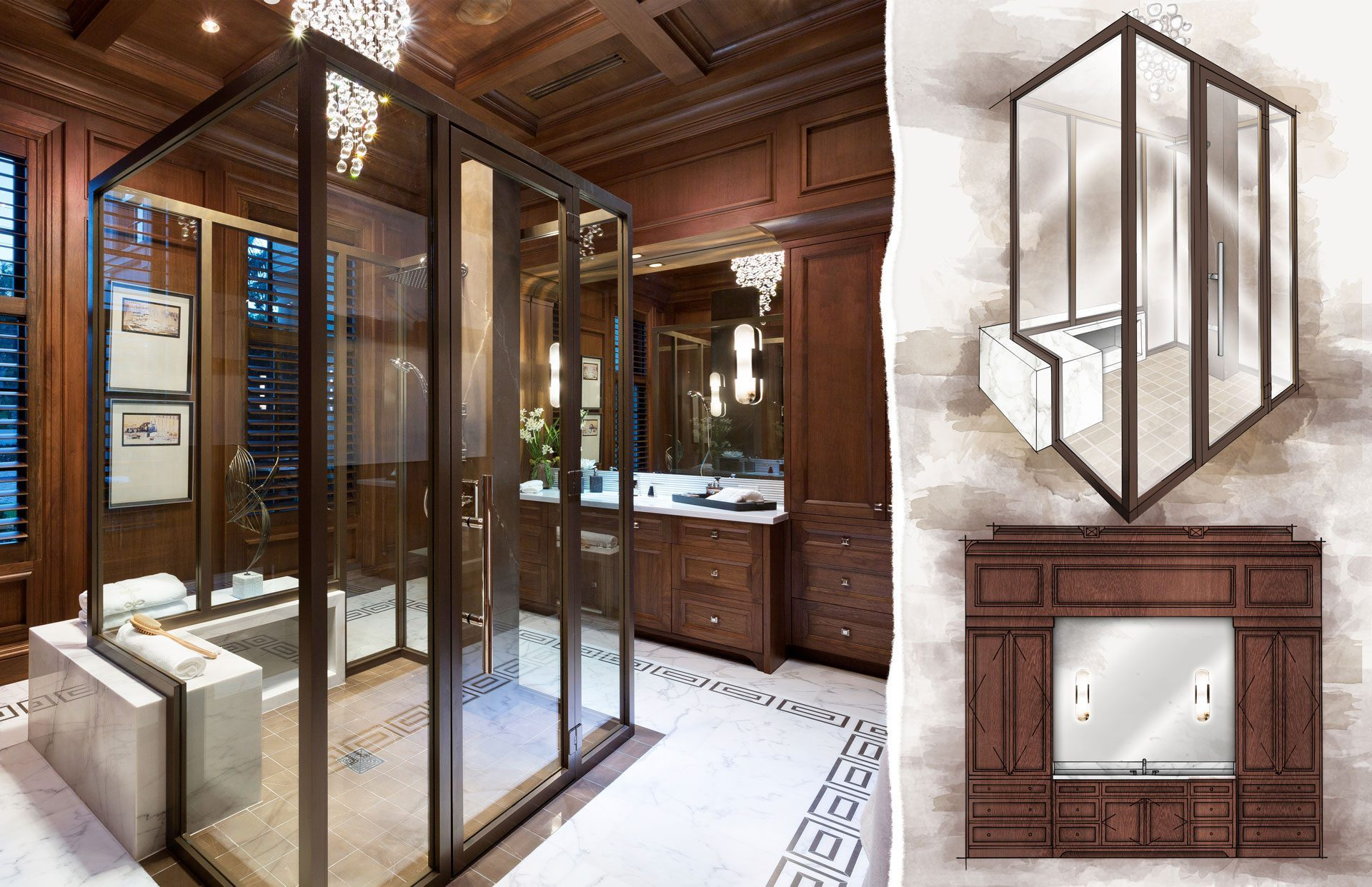 Concept to Completion Interior Detailing HIS MASTER BATH