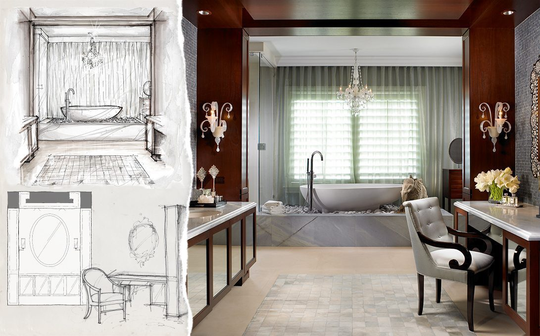 Concept to Completion Interior Detailing Tub Wall