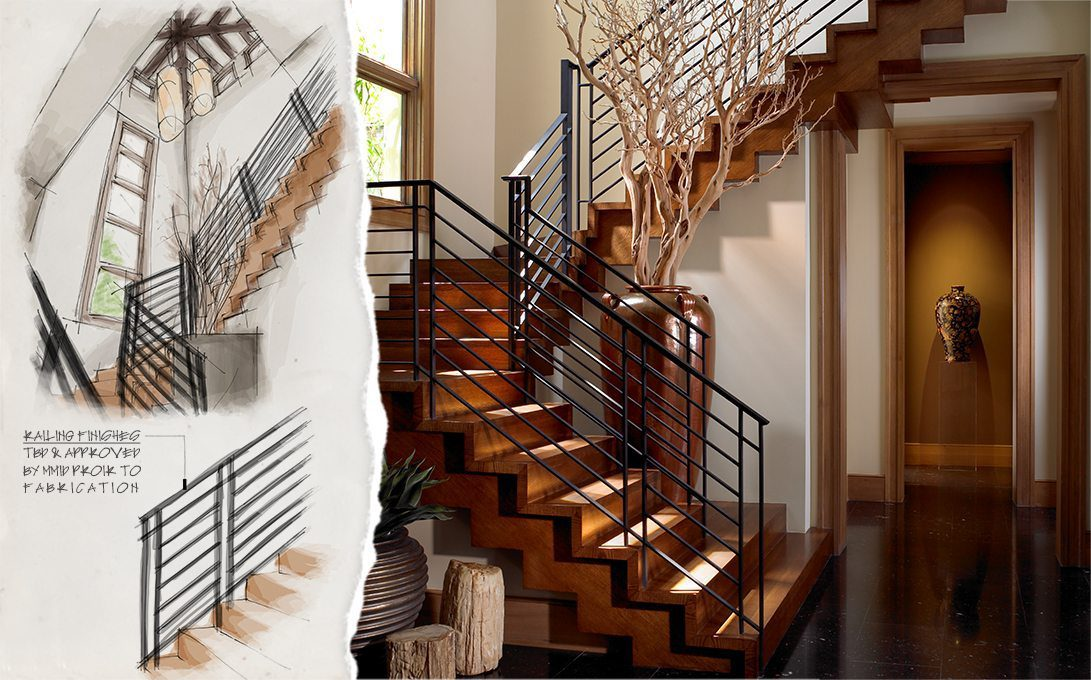 Concept to Completion Interior Detailing Wood Stairs