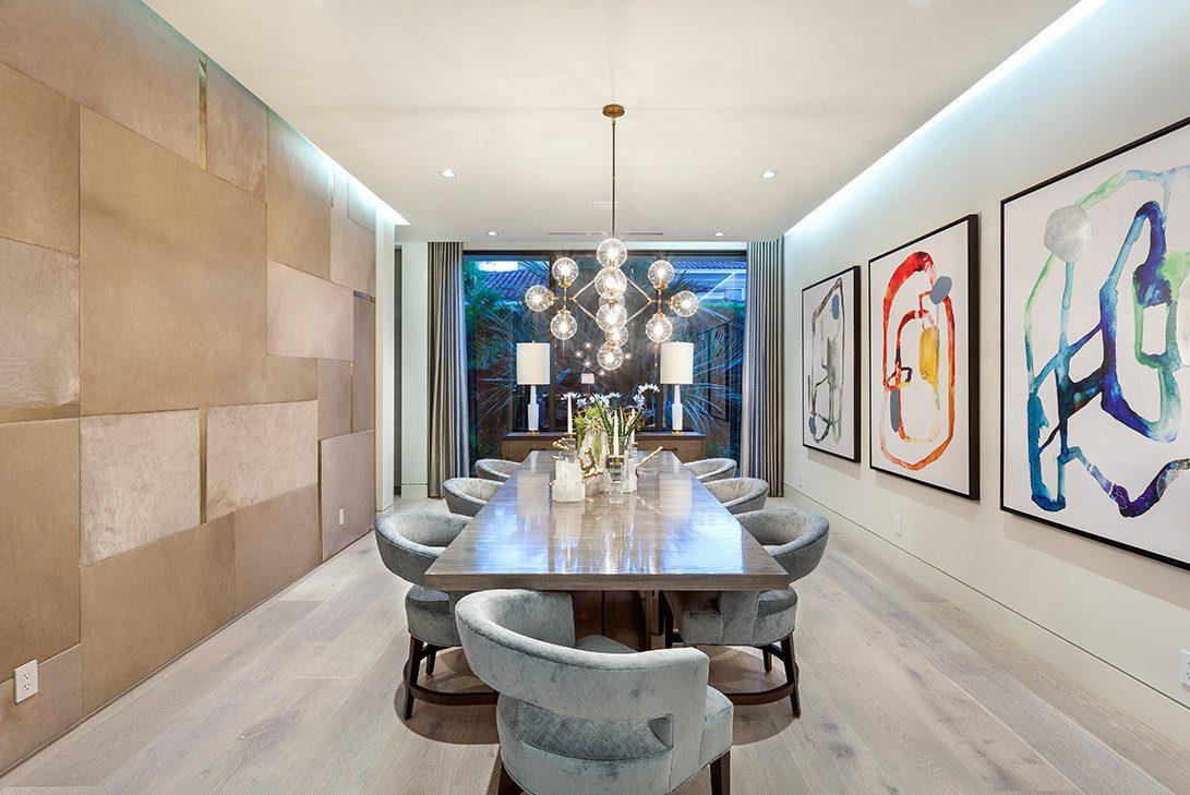 Marc-Michaels Boca Raton Waterfront Mid Century Modern Design Feature Dining Room
