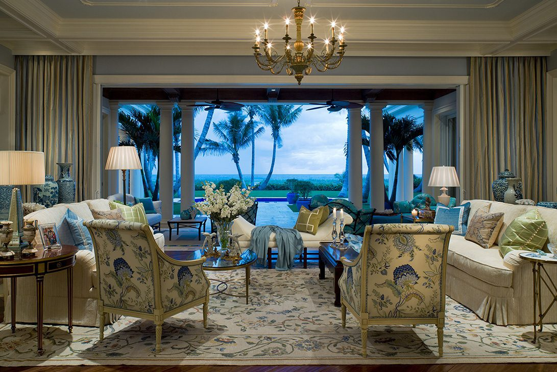 Traditional Design Living Room in Palm Beach