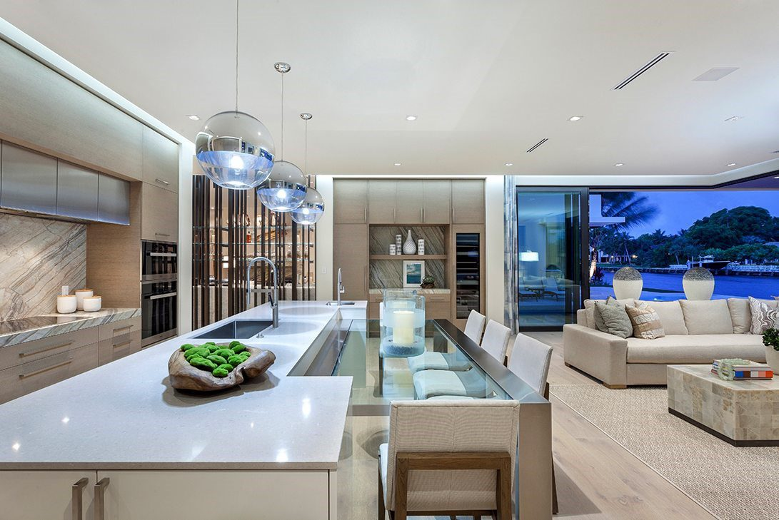 marc-michaels mid-century modern luxury open kitchen living space