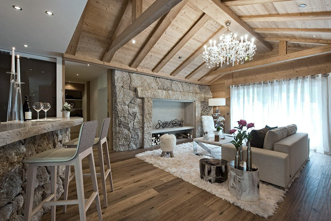 Marc Michael's 51° Leukerbad Switzerland Design Project Exhibits Rustic Charm Interspersed With Elegance Accents.