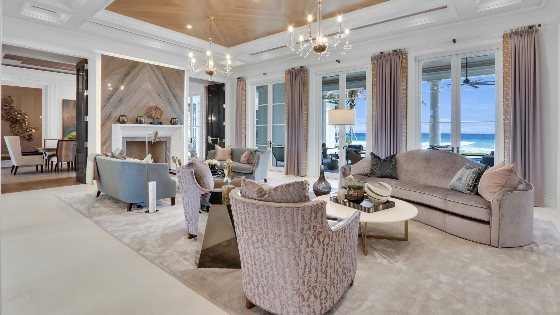 A Beautiful interior shot of a recently designed Marc-Michaels home