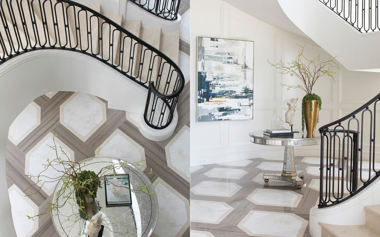 Palm Beach Estate's classically elegant grand foyer