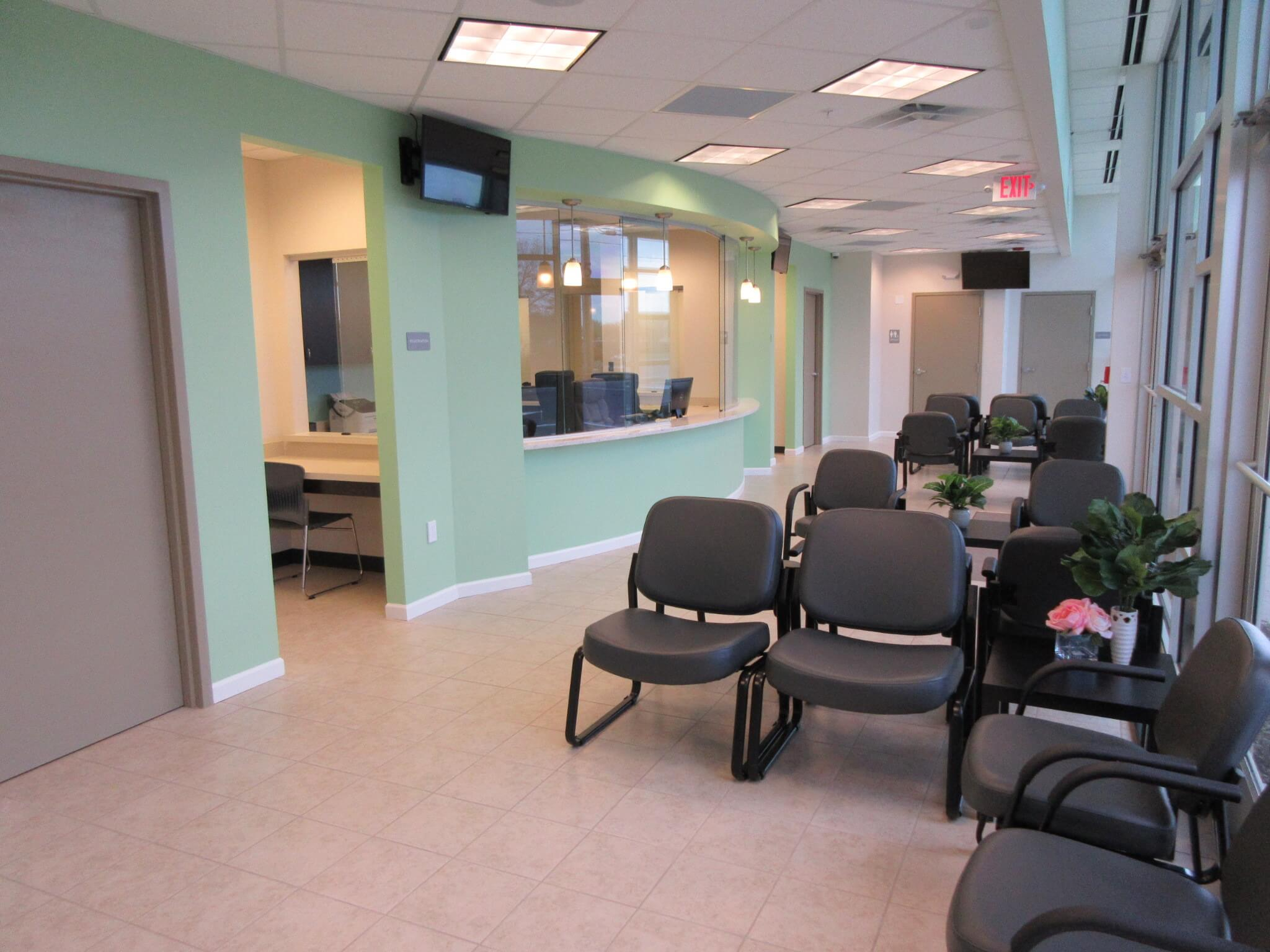 The waiting room of Clermont Urgent Care